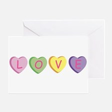 Unique Conversation hearts Greeting Card