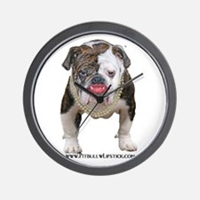 Palin Pit Bull with Lipstick Wall Clock