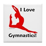 Gymnastics Tile Coaster - Love