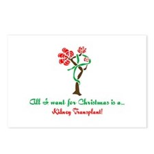 Christmas Wish Kidney Postcards (Package of 8)