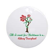 Christmas Wish Kidney Ornament (Round)