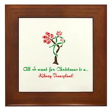 Christmas Wish Kidney Framed Tile