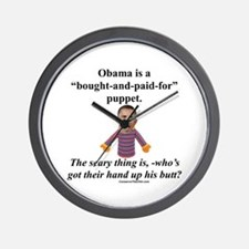 """Obama the Puppet"" Wall Clock"