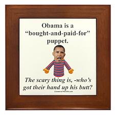 """""""Obama the Puppet"""" Framed Tile"""