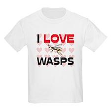 I Love Wasps Kids Light T-Shirt
