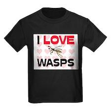 I Love Wasps Kids Dark T-Shirt