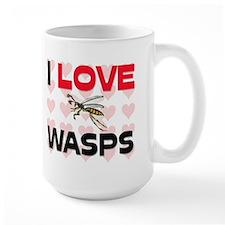 I Love Wasps Large Mug