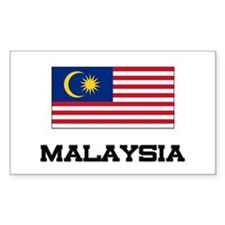 Malaysia Flag Rectangle Decal