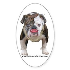 Palin Pit Bull with Lipstick Oval Decal