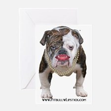 Palin Pit Bull with Lipstick Greeting Card