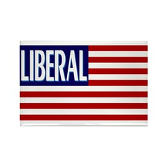 Liberal Flag Rectangle Magnet