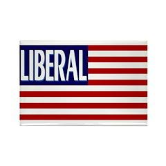 Liberal Flag Rectangle Magnet