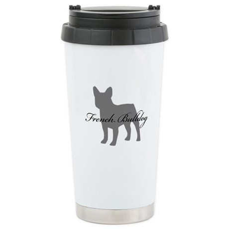 French Bulldog Stainless Steel Travel Mug