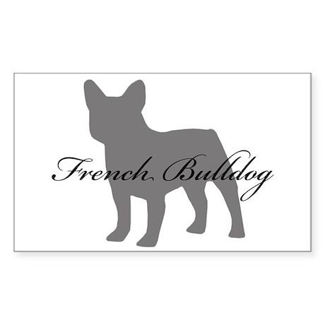 French Bulldog Rectangle Sticker