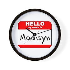 Hello my name is Madisyn Wall Clock