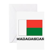 Madagascar Flag Greeting Card
