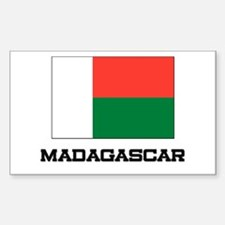 Madagascar Flag Rectangle Decal
