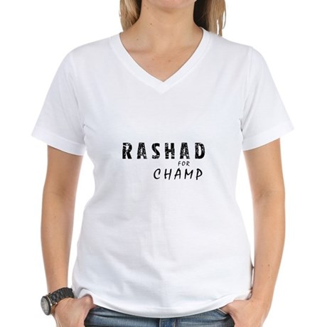 Rashad is Champ Women's V-Neck T-Shirt