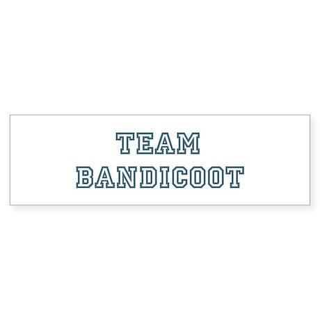 Team Bandicoot Bumper Sticker
