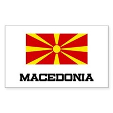Macedonia Flag Rectangle Decal