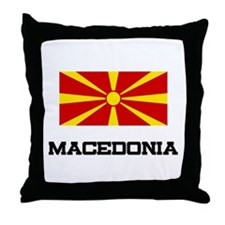 Macedonia Flag Throw Pillow