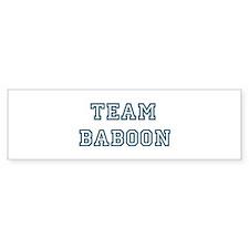 Team Baboon Bumper Sticker (10 pk)