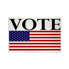 Vote American Flag Rectangle Magnet (10 pack)