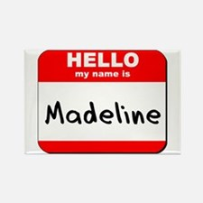 Hello my name is Madeline Rectangle Magnet