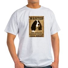 """Wanted"" English Springer Spaniel T-Shirt"