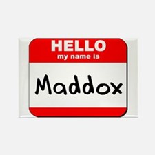 Hello my name is Maddox Rectangle Magnet