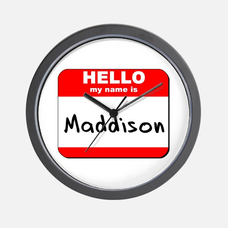 Hello my name is Maddison Wall Clock