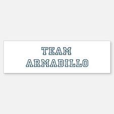 Team Armadillo Bumper Bumper Bumper Sticker