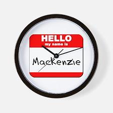 Hello my name is Mackenzie Wall Clock