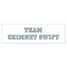 Team Chimney Swift Bumper Bumper Sticker