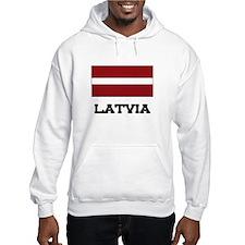 Latvia Flag Hoodie