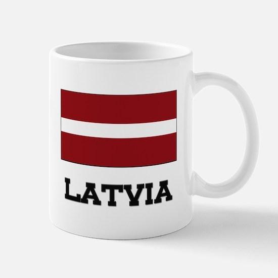 Latvia Flag Mug