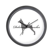 Doberman Pinscher Wall Clock