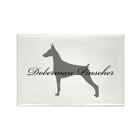 Doberman Pinscher Rectangle Magnet (10 pack)