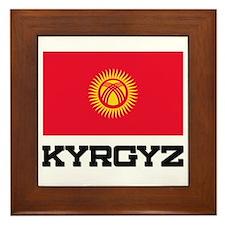 Kyrgyz Flag Framed Tile