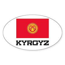 Kyrgyz Flag Oval Decal