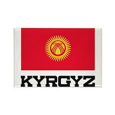 Kyrgyz Flag Rectangle Magnet