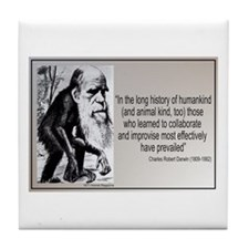 Charles Darwin Quotes Tile Coaster