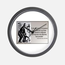Charles Darwin Quotes Wall Clock