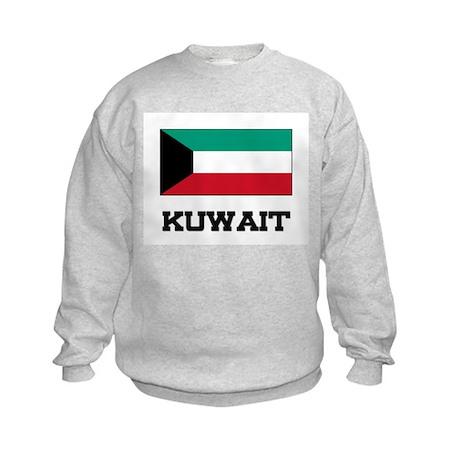 Kuwait Flag Kids Sweatshirt