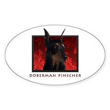Doberman Pinscher Oval Decal