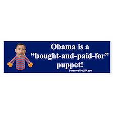 """""""Obama the Puppet"""" Bumper Bumper Sticker"""