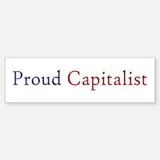 Proud Capitalist pro-capitalism Sticker (Bumper)
