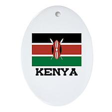 Kenya Flag Oval Ornament