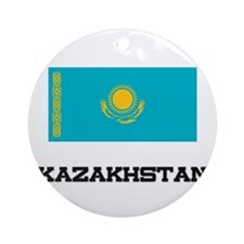 Kazakhstan Flag Ornament (Round)