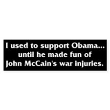 War Injuries Bumper Bumper Sticker